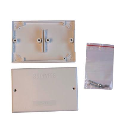 NOX plasthus för 2 moduler - 130x90mm