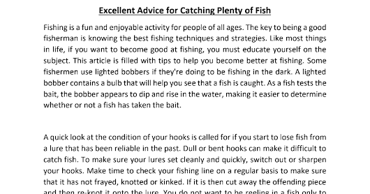 Excellent Advice for Catching Plenty of Fish.pdf