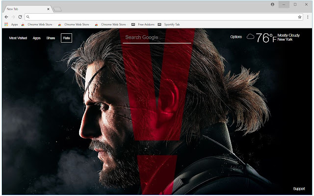 Metal Gear Solid HD Wallpapers New Tab Themes