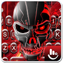 3D Red Skull Keyboard Theme icon