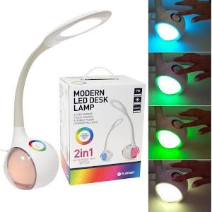 Lampa flexibila de birou Platinet PDL20, touchbar control culoare, 7W, 5500K