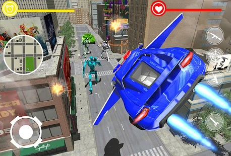Real Police Flying Car Robot Transformation Game