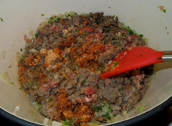 Drain any excess fat from the pan, then add the taco/Mexican fiesta seasoning, lime...