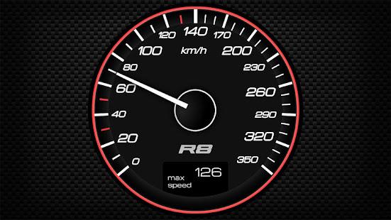 スーパーカーのスピードメーターとサウンド