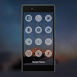 Pixel Net White - Icon Pack APK screenshot thumbnail 3