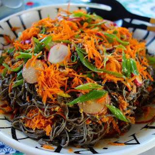 BLACK BEAN SPAGHETTI IN A MISO DRESSING