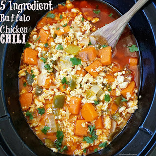 5 Ingredient Slow Cooker Buffalo Chicken Chili.
