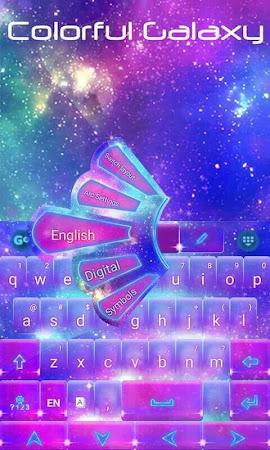 Colorful Galaxy Keyboard Theme 1.85.5.82 screenshot 189083