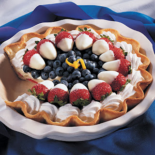 Red, White and Blueberry Pie.