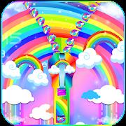 Rainbow lock screen
