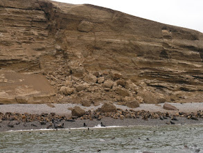 Photo: Landslide causes by the 2006 earthquake that leveled nearby towns