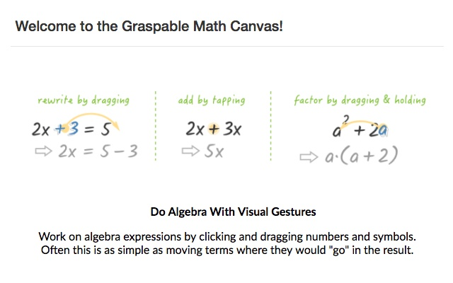 Graspable Math Sidebar