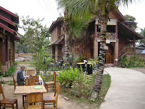Photo: Hotel in Luang Namtha - luxury for 70,000 kip ($NZ15)  per room