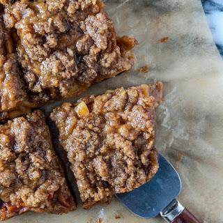 Apple and Peach Jam Streusel Pie Bars.