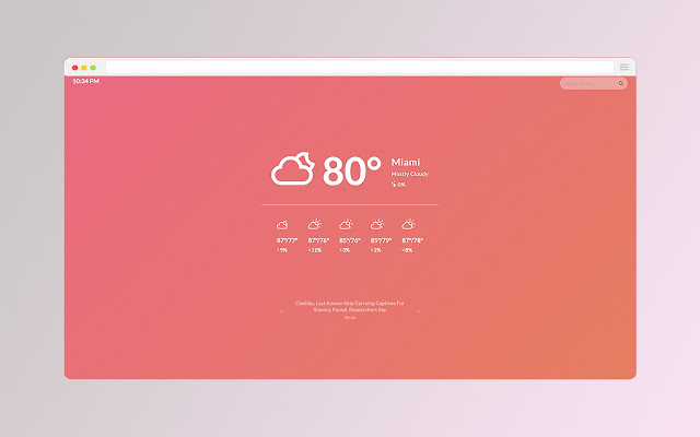 Visual Weather Tab