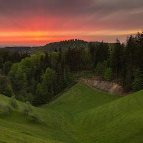 Peacefull morning by Peter Zajfrid - Landscapes Sunsets & Sunrises