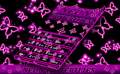 Neon Butterflies Keyboard screenshot 10