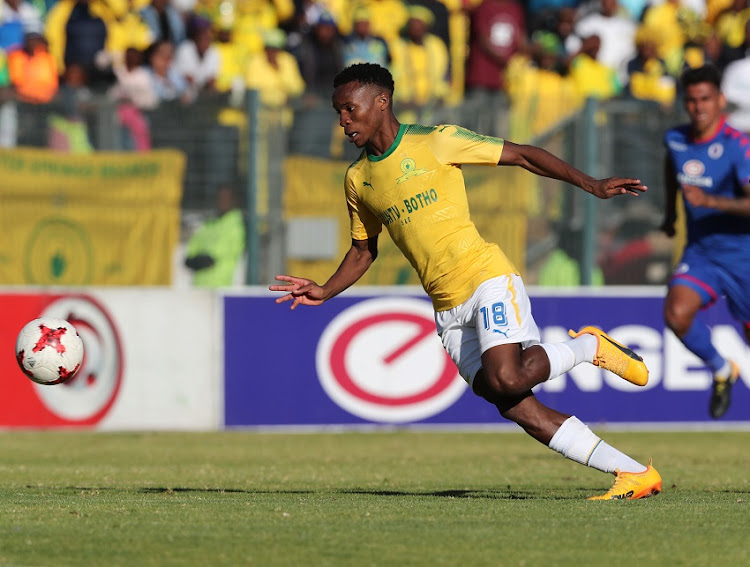 Themba Zwane of Mamelodi Sundowns during the 201/18 Absa Premiership football match between Supersport United and Sundowns at Lucas Moripe Stadium, Pretoria on 19 August 2017.
