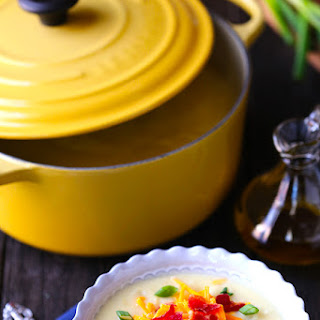 Potato Soup with Bacon & Truffle Oil.