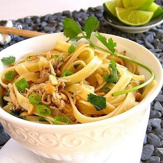 Thai Pasta with Chicken or Turkey.