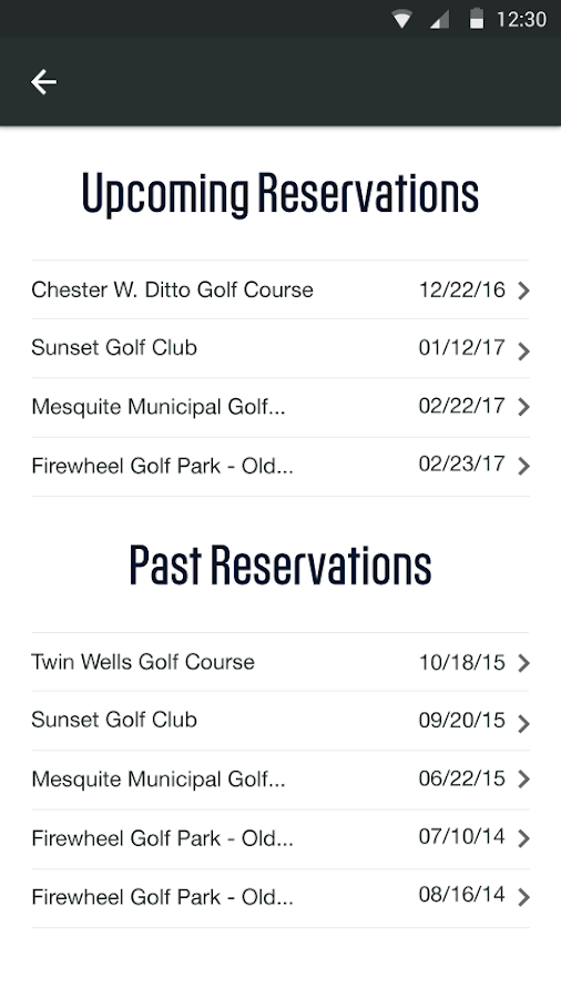 Golf.com Tee Times- screenshot