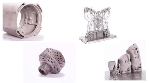 Aerospace-grade structural components produced by using 3D printing or additive manufacturing.