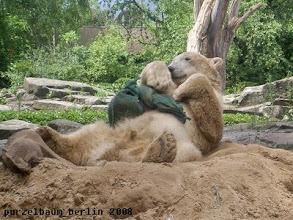 Photo: Der Jutesack wird auf dem Bauch abgelegt :-)