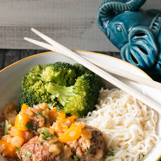 30 Minute Sweet & Sour Meatball Bowls.