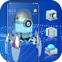 High-Tech Glass 3D Theme Galaxy M20 Launc 2.0.1 APK 下载