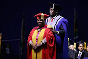 Higher education minister Naledi Pandor has graduated from the University of Pretoria.
