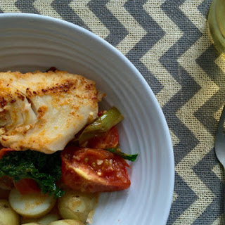 Heirloom Tomato And Cod One Pot With Chorizo And Kale.