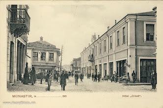 """Photo: 14. Хотелот """"Ориент"""" сликан од Широк Сокак кон југ, во мај 1905 година."""