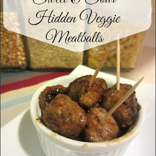 Sweet & Sour Hidden Veggie Meatballs - Kid Friendly Appetizer