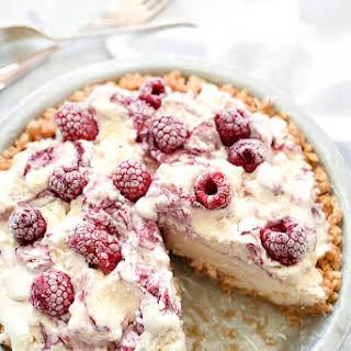 4 Ingredient Ice Cream Pie with Peanut Butter Krispie Crust.