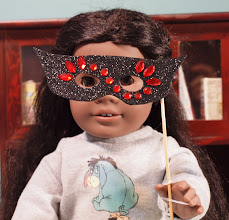 Photo: More about mask making at Doll Diaries: http://dolldiaries.com/doll-play-day-50-make-masquerade-masks-for-your-dolls/