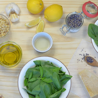 Basil Spinach with Lavender Pesto