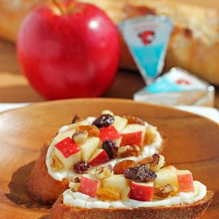 Cheesy Apple Walnut Bruschetta
