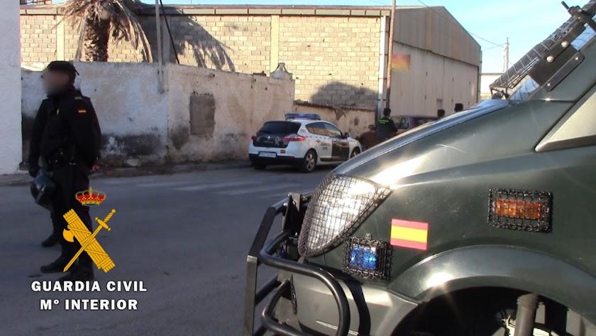 Guardia Civil en Roquetas