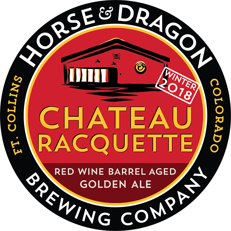 Logo of Horse & Dragon Winter 2018 Chateau Racquette Red Wine Barrel Aged Golden Strong