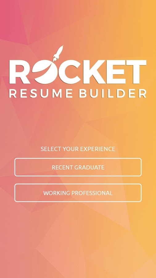 rocket resume builder screenshot
