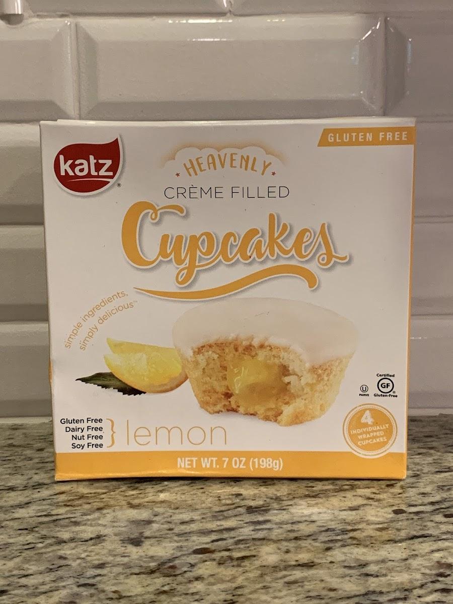 Lemon Creme Filled Cupcakes