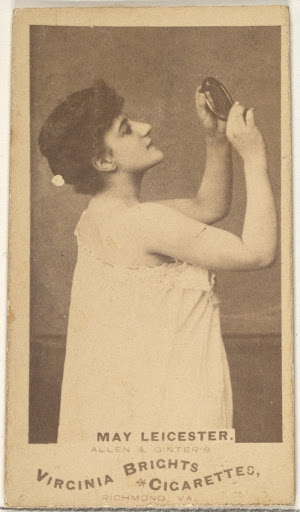 May Leicester, from the Actors and Actresses series (N45, Type 1) for Virginia Brights Cigarettes