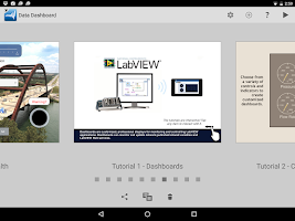 Screenshot of Data Dashboard for LabVIEW