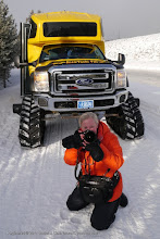 Photo: Carlotta shooting photos in Yellowstone National Park, Wyoming.