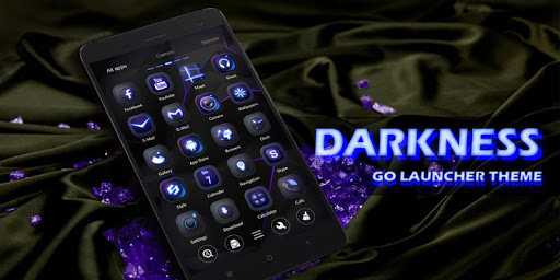 Darkness GO Launcher Theme v1.0 screenshots 6