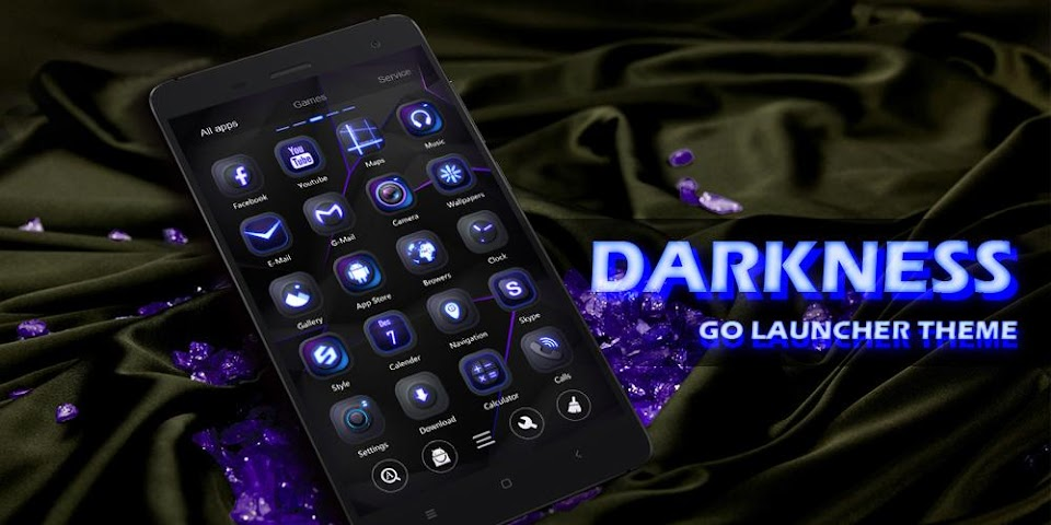 android Darkness GO Launcher Theme Screenshot 5
