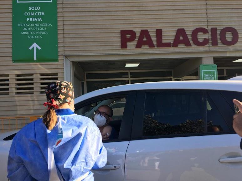 Comienza la vacunación masiva en el Palacio.