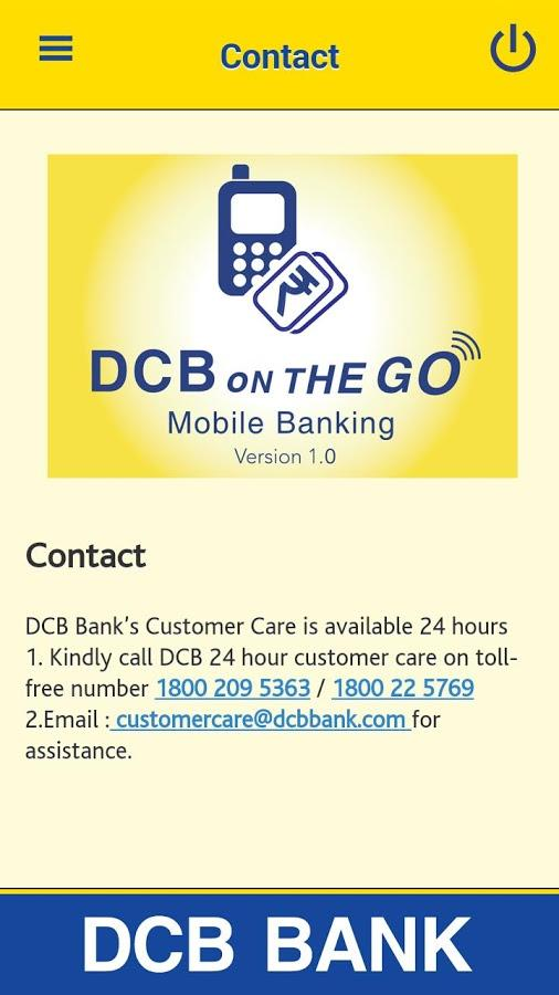 DCB Bank Mobile Banking App- screenshot