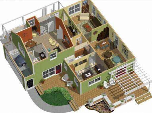 3D家庭平面图理念