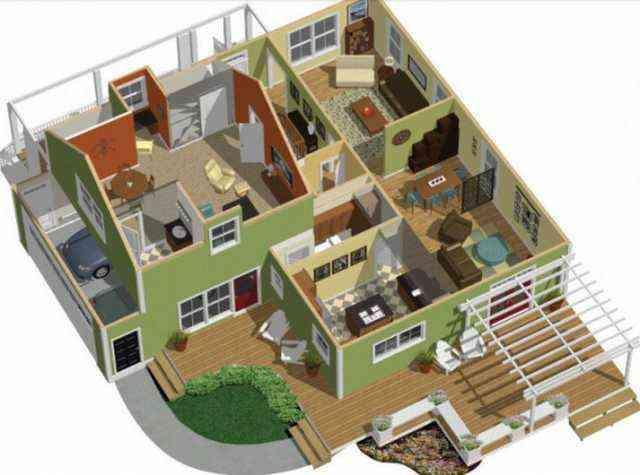 Double Floor Home Design Plans 3d Home Design